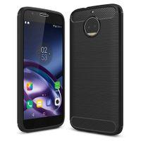 Carbon Case elastyczne etui pokrowiec Motorola Moto G5S Plus czarny