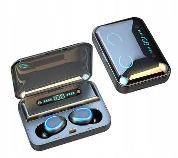 Słuchawki bezprzewodowe F9-8 douszne + PowerBank