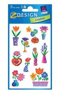 Plakietki samoprzylepne do ozdabiania i zabawy - Kwiaty 2