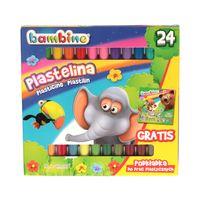Plastelina 24 kolory Standard Bambino