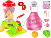 Mikser Robot Kuchenny dla Dzieci z owocami + Fartuch + akcesoria U143Z
