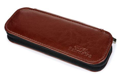 ETUI skórzane piórnik na długopisy płaskie J002 brązowe