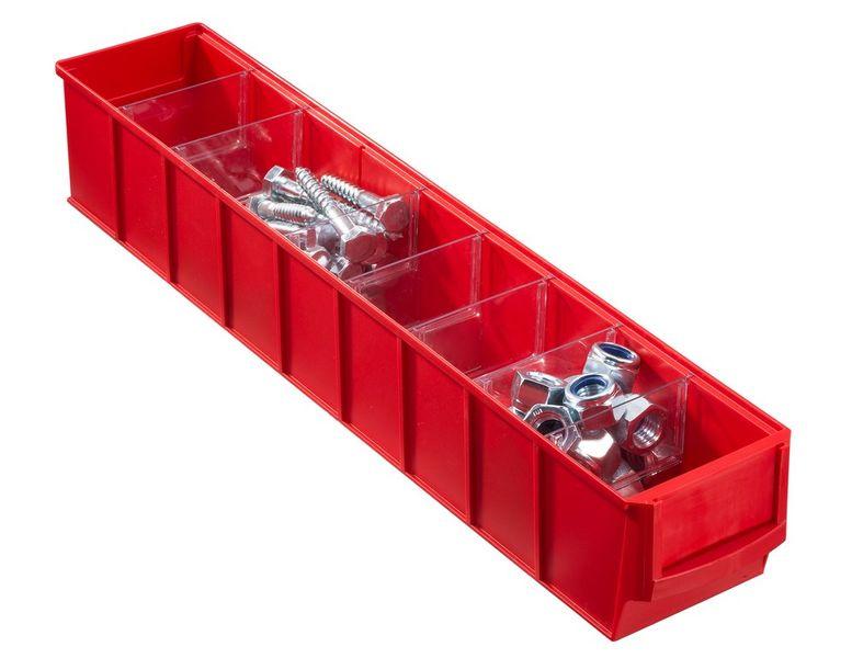 Pojemnik magazynowy czerwony- 500x91x81 mm na Arena.pl