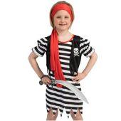 STRÓJ dla dzieci PIRATKA KIRA pirat pirata 128 cm