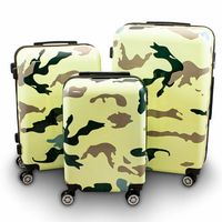 17012 Set walizek CAMOUFLAGE zestaw 3 szt poliwęglan XL L M set