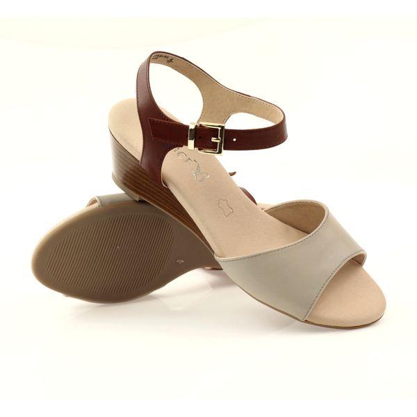 Caprice buty damskie sandały skórzane 28213 czarne