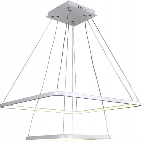 Lampa wisząca żyrandol kwadratLED 30+50 FABIO II nowoczesna 45W Wobako na Arena.pl