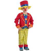 Strój dla DZIECI kolorowy KLAUN clown cyrk