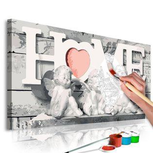 Obraz do samodzielnego malowania - Aniołki (Home)