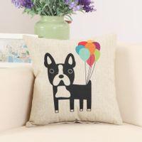 Poszewka na poduszkę ze zwierzątkami Piesek i balony 45x45cm