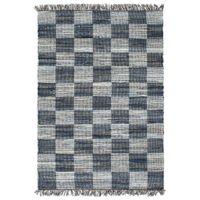 Ręcznie tkany dywanik Chindi, dżins, 200x290 cm, niebieski