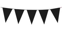 Girlanda Baner flagi 10 m czarny