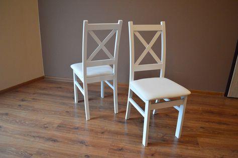 HIT!! Białe krzesło bukowe Krzyż M II krzyżak NOWE 2 lata GW.