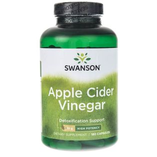 Swanson Apple Cider Vinegar (Ocet Jabłkowy) 625mg - 180 kapsułek