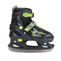 Łyżwy hokejowe czarne z zielonymi dodatkami roz S wnętrze buta MESH płoza stal nierdzewna ABI