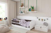Łóżko EMMA 160x80 szuflada + barierka zabezpieczająca + MATERAC GRATIS