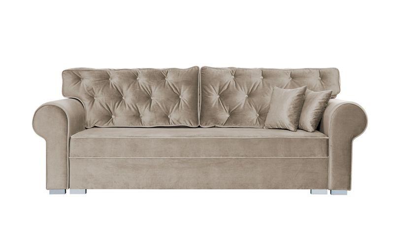 Sofa Kanapa 250cm Beżowa MONIKA PIK  różne kolory obić NC zdjęcie 1