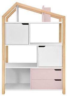 Regał na książki Phoebe Flamingo - ażurowa konstrukcja!