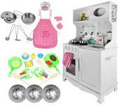 Drewniana Kuchnia Dla Dzieci Światła Dźwięki Granki Akcesoria Z371Z zdjęcie 12