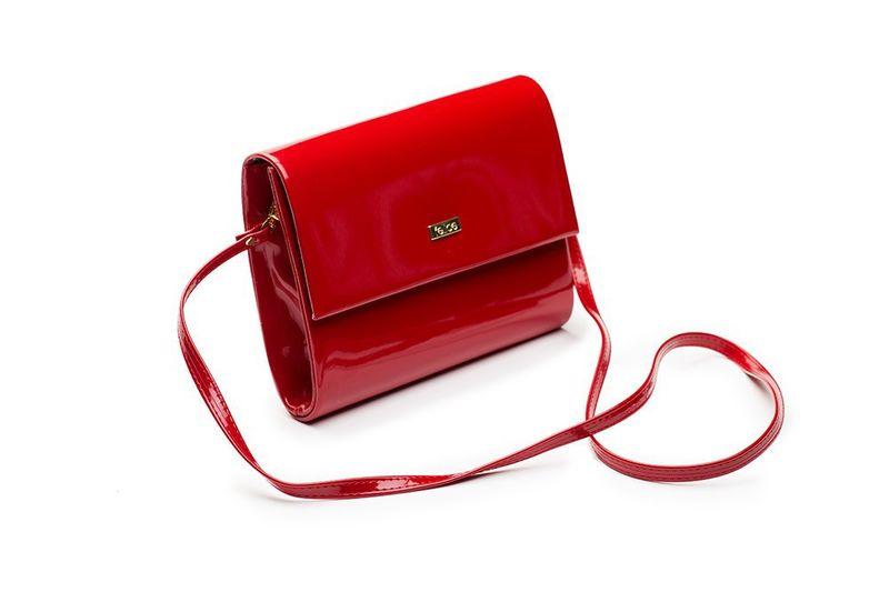 8f98800b31421 Modna czerwona damska kopertówka lakierowana stylowa torebka damska Felice  zdjęcie 1