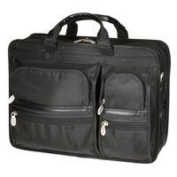 """Praktyczna męska torba na laptopa McKlein Czarna Hubbard 17"""""""