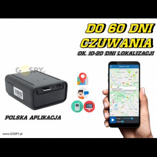Lokalizator GPS  Hermes H18 z Podsłuchem na żywo ( j. Polski)