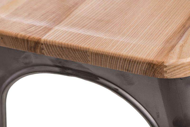 Krzesło Paris Wood metali. sosna natural D2 zdjęcie 4