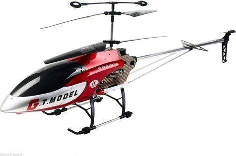 Helikopter QS8006 gigant (dł. 134cm, 3.5CH, żyroskop, zasięg do 80m) - Czerwony