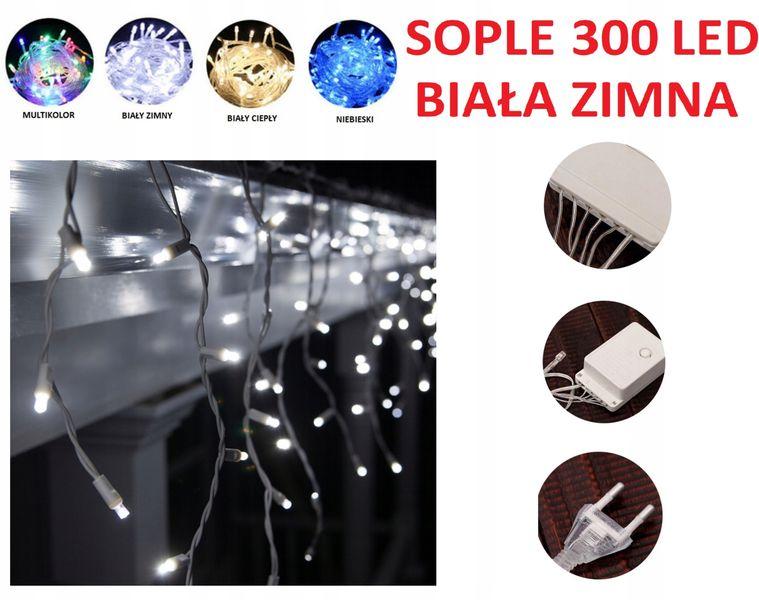 SOPLE 300 LED LAMPKI CHOINKOWE BIAŁE ZIMNE zdjęcie 1