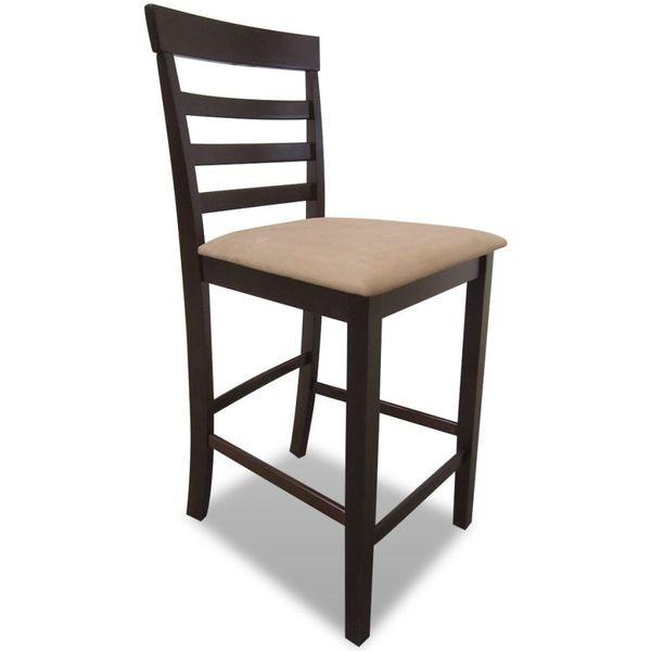 Drewniane, Brązowe Meble Barowe: Stół I 4 Krzesła zdjęcie 2