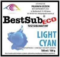 100 ml Tusz Sublimacyjny ECO Light Cyan Sublimacja Termotransfer