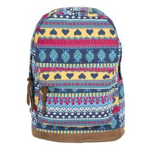 Lekki plecak szkolny Paso w aztecki wzór, 17-223G