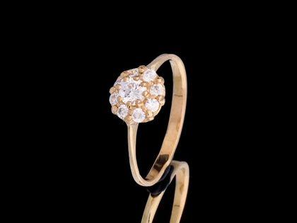 P461 Złoty pierścionek z cyrkoniami 333 /Jubi