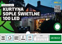 Kurtyna Sople LED 4,25 m • 100 LED • zewnętrzne oświetlenie • możliwość łączenia • zewnętrzne lampki choinkowe NR 1779 Wielokolorowy