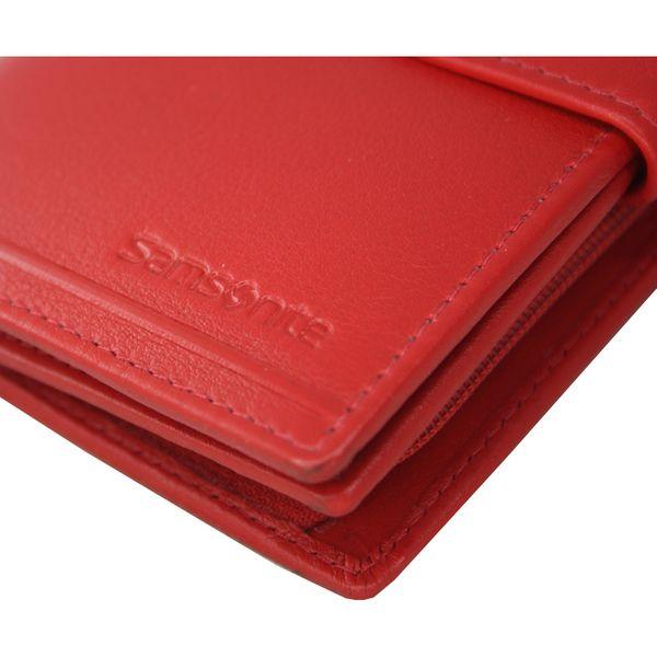 ff7aa712b50e9 Skórzany, czerwony portfel damski Samsonite B-Lux, RFID • Arena.pl