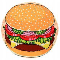 Ręcznik Plażowy Duży Hamburger Okrągły Koc 150 cm