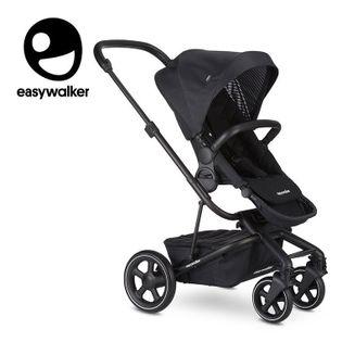 Easywalker Harvey² Premium Wózek głęboko-spacerowy Onyx Black (zawiera stelaż, siedzisko z budką, pałąk, folię przeciwdesz. i