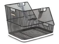 Kosz na tylny bagażnik BASIL CLASS + haczyki mocujące Bottom hooks, stalowy czarny