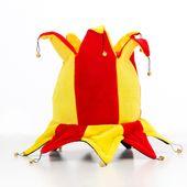 Kapelusz błazna w barwach Hiszpanii z 14 dzwonkami zdjęcie 2