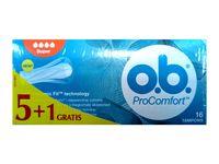 O.B.ProComfort Super komfortowe tampony 6op. x 16szt (5+1 gratis)