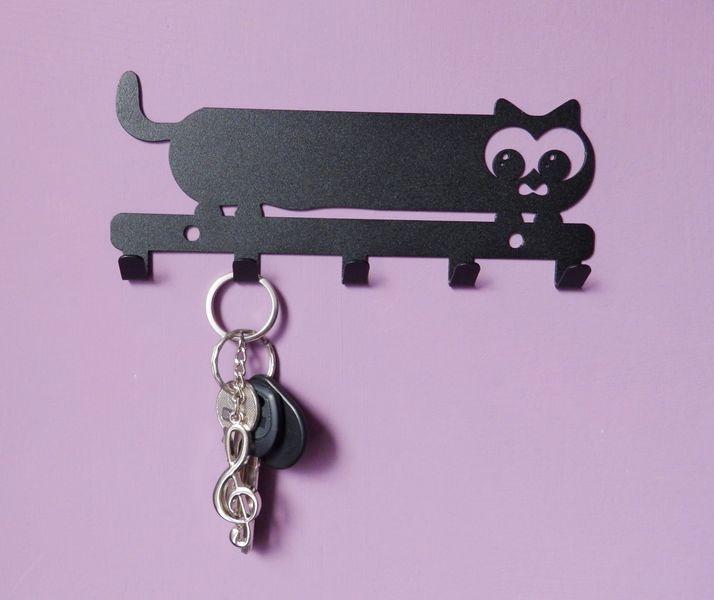 Metalowy wieszak ścienny na ubrania klucze - KOT zdjęcie 6