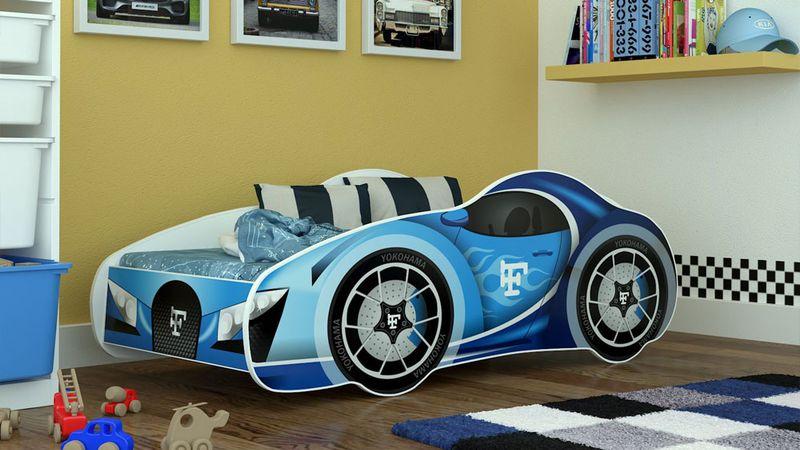 Łóżko auto SPEED CARS 140x70 - HIT na Arena.pl