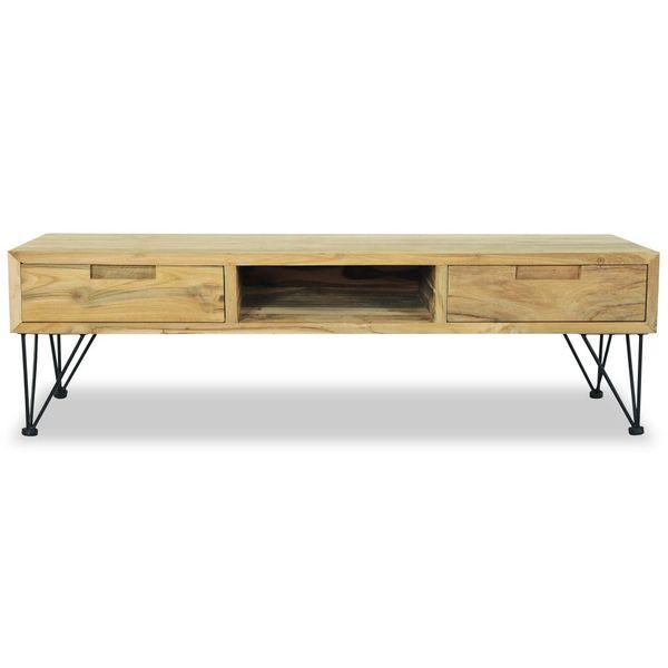 Szafka pod telewizor, 120 x 35 x 35 cm, lite drewno tekowe zdjęcie 6