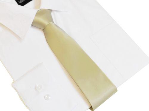 Klasyczny modny krawat KREMOWY 7 cm na Arena.pl