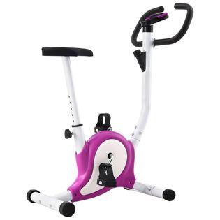 Rowerek do ćwiczeń z paskiem oporowym fioletowy VidaXL