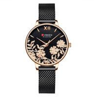 Damski zegarek CURREN na bransolecie w kolorze czarnym
