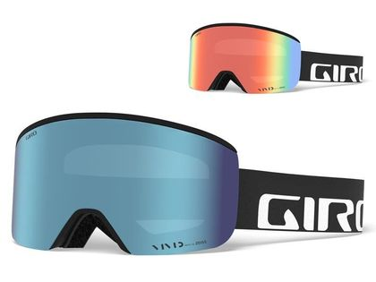 Gogle zimowe GIRO AXIS BLACK WORDMARK (Szyba lustrzana kolorowa VIVID-Carl Zeiss VIVID ROYAL 16% S3 + Szyba lustrzana kolorowa VIVID-Carl Zeiss INFRARED 62% S1) (NEW)