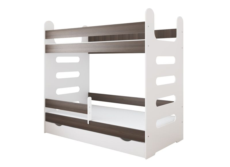 Łóżko piętrowe MATI 160x80 + 2 materace piankowe + pojemna szuflada na Arena.pl