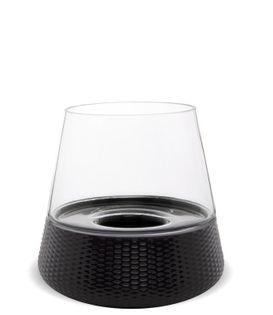 Lampion Stożek okrągły szklany 19,5x19,5x19,5 cm