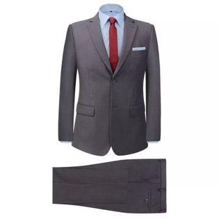 2-częściowy garnitur biznesowy męski szary rozmiar 46